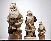 Three Chocolate Santa Clauses