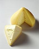 A tetilla cheese, cut into