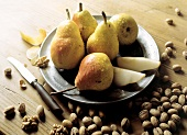 Williams Pears on a Plate; Nuts