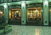 Baratti & Milano coffee house in a Turin arcade, Italy