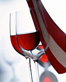 Symbolic picture for wine from Austria in red-white-red