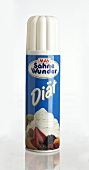 Instant whipped cream (sprayed from a can)