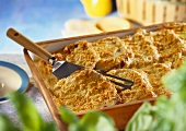 Bread pudding with Gruyere cheese