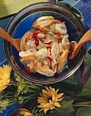 Schillerlocken salad with potatoes & radishes