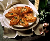 Fettunta (toasted bread with olive oil and garlic, Italy)