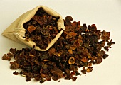Dried rose hips for tea in small bag