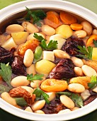 Bean and potato stew with dried fruit