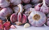 Fresh Garlic Bulbs and Cloves