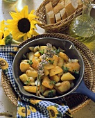 Provencal fried potatoes with thyme in bowl