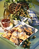 Scheiterhaufen (Log pyre, bread pudding) with gooseberries