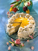 Caribbean gateau with coconut & pineapple cream filling