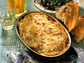 Pastitsio: Greek macaroni and mince bake