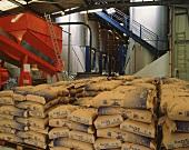 Sugar sacks for chaptalisation in Rauzan, Gironde, Bordeaux
