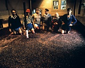 Treading, the traditional treatment for port wine wine
