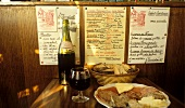 "Wine and cheese - specialities at ""Taverne Henry IV"" in Paris"