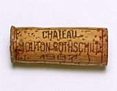 Cork of a 1987 Chateau Mouton Rothschild, Bordeaux