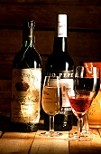"Still life with Spanish wines: Rioja and ""Tio pepe"" sherry"