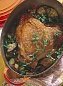 Braised turkey leg with vegetable