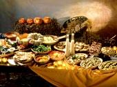 Vegetarisches Herbst-Buffet zu Halloween
