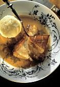 Bavarian Roast Pork with a Potato Dumplings