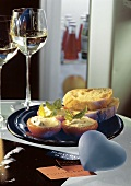 Tomatoes Filled with Ricotta; Bread and Wine