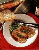 Saltimbocca alla romana (veal escalopes with ham and sage)