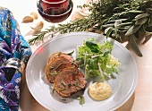 Provencal-style lamb knuckle with mayonnaise