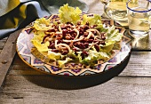 Kidney Bean Salad Over Lettuce