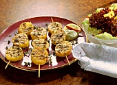 Three Potato Skewers with Thyme