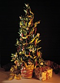Decorated Laurel Tree For Christmas