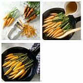 Preparing glazed carrots