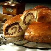 Austrian reindling (yeast cake with nut filling)