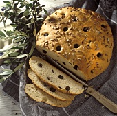 Olive bread with sunflower seeds