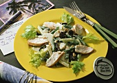 Apple and celery salad with chicken breast fillets