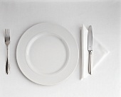 Single Setting with a White Plate
