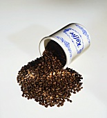 Coffee Beans Spilling from a Coffee Can