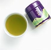 A Bowl of Matcha Tea; Can of Tea