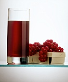 A Glass of Currant Juice with Currants