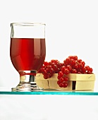 A Glass of Currant Juice; Fresh Currants