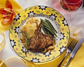 Easter Lamb Chops with Green Beans and Potatoes
