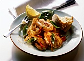 Shrimp with Hot Peppers and Herbs