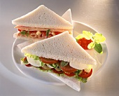 Tramezzini (triangular sandwiches), Veneto, Italy