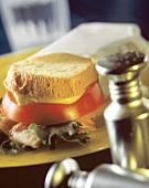 BLT Sandwich with Mustard