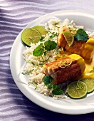 Eel with lime sauce & rice