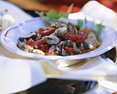 Mussel Salad with Red Bell Peppers