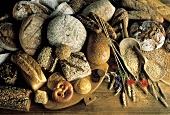 Several Assorted Breads and Rolls