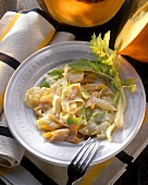 Ribbon Pasta with Pumpkin in a Cream Sauce