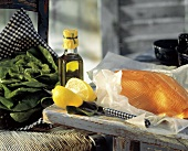 Fresh Salmon Fillet with Lemon