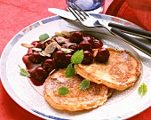 Buckwheat Pancakes with Cherry Compote