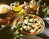 Gemüsepizza mit Champignons, Brokkoli & Zucchini